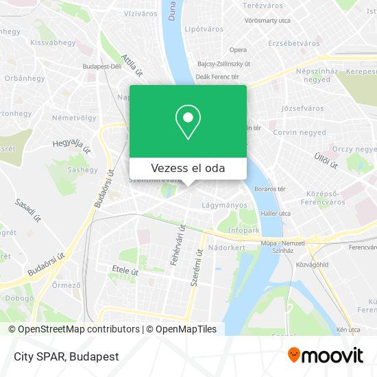 City SPAR térkép