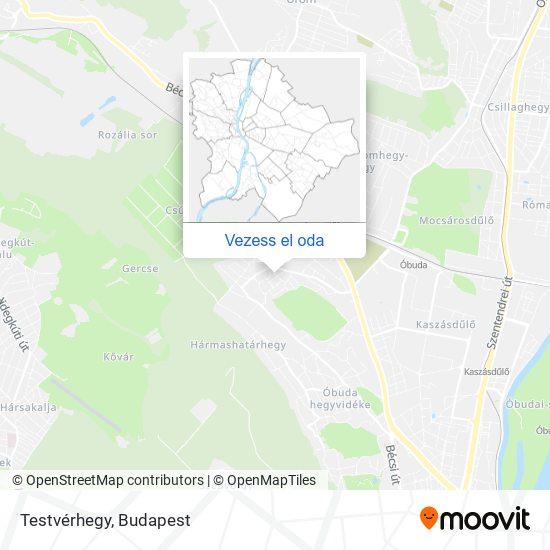 Testvérhegy térkép