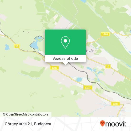 Görgey utca 21 térkép