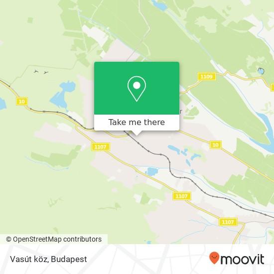 Vasút köz térkép