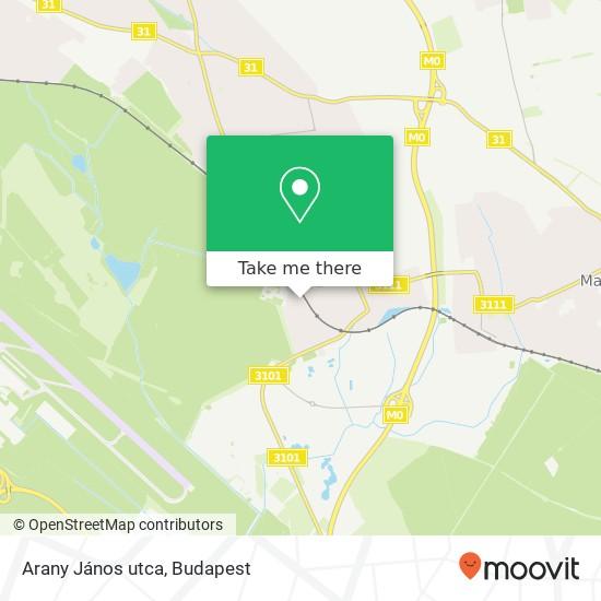 Arany János utca térkép