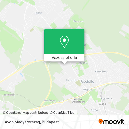 Avon Magyarország térkép