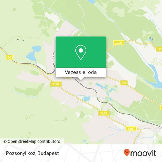 Pozsonyi köz térkép