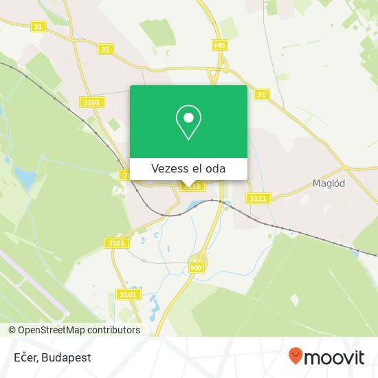 Ečer térkép