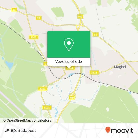Эчер térkép