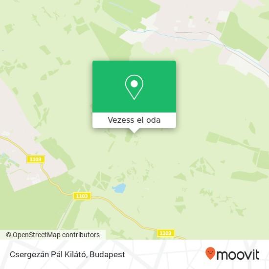 Csergezán Pál Kilátó térkép