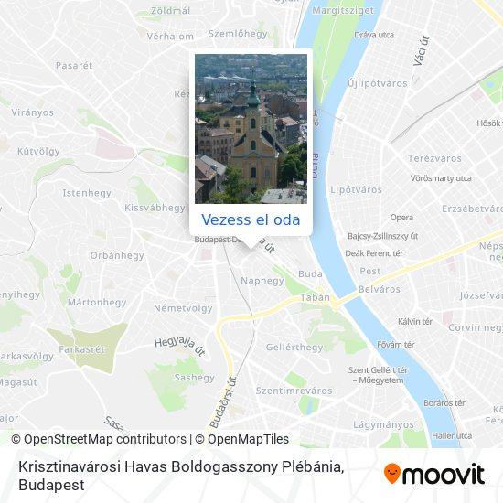 Krisztinavárosi Havas Boldogasszony Plébánia térkép