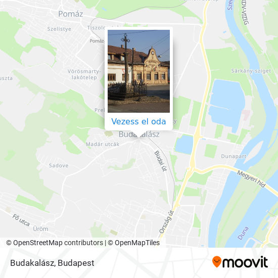 Budakalász térkép
