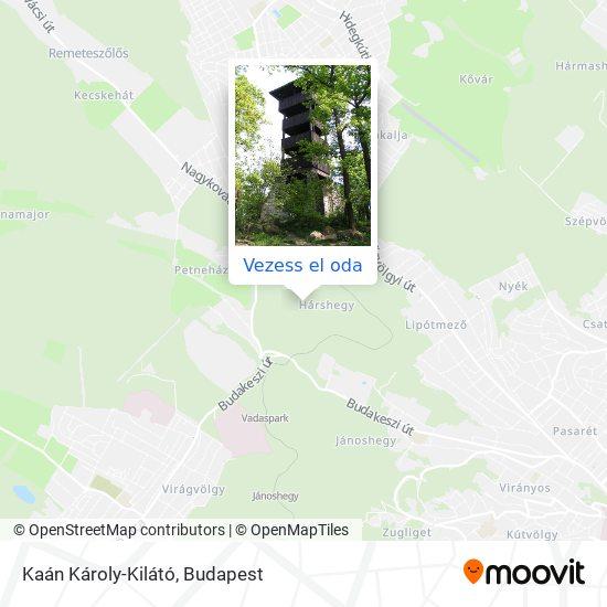 Kaán Károly-Kilátó térkép