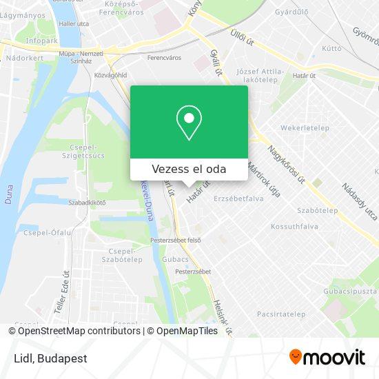 Lidl térkép