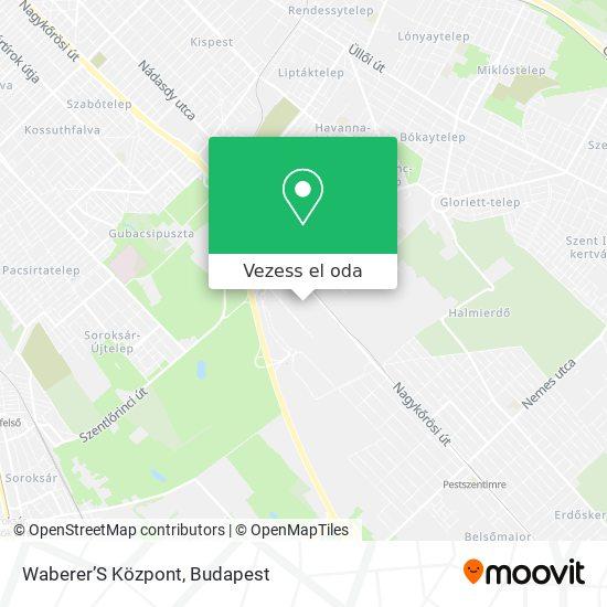 Waberer'S Központ térkép