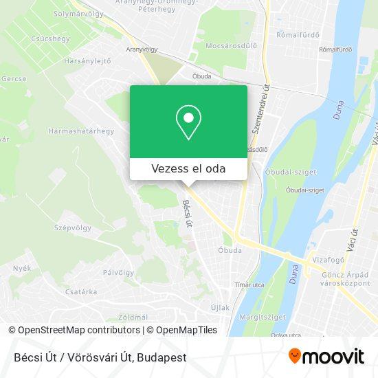 Bécsi Út / Vörösvári Út térkép