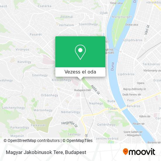 Magyar Jakobinusok Tere térkép