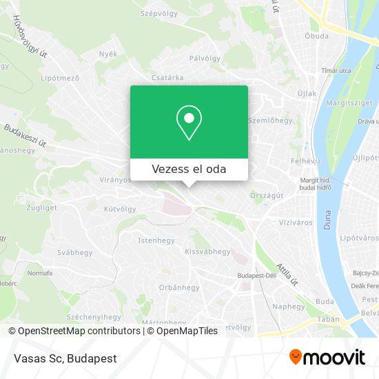 Vasas Sc térkép