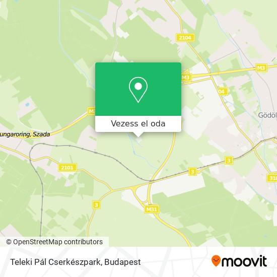 Teleki Pál Cserkészpark térkép