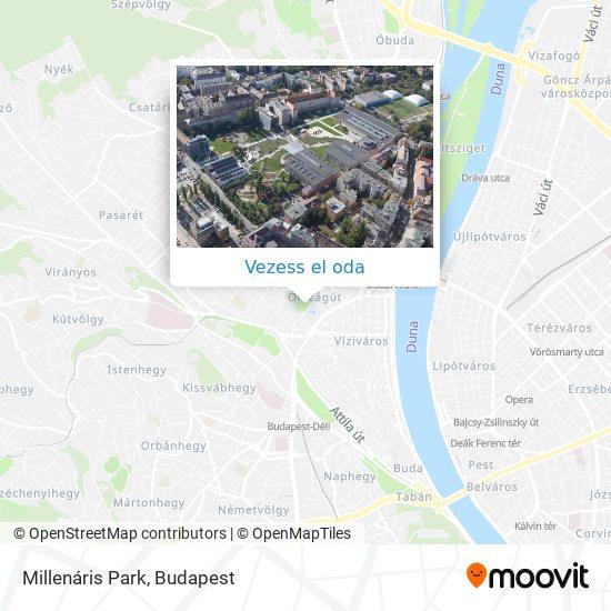 Millenáris Park térkép
