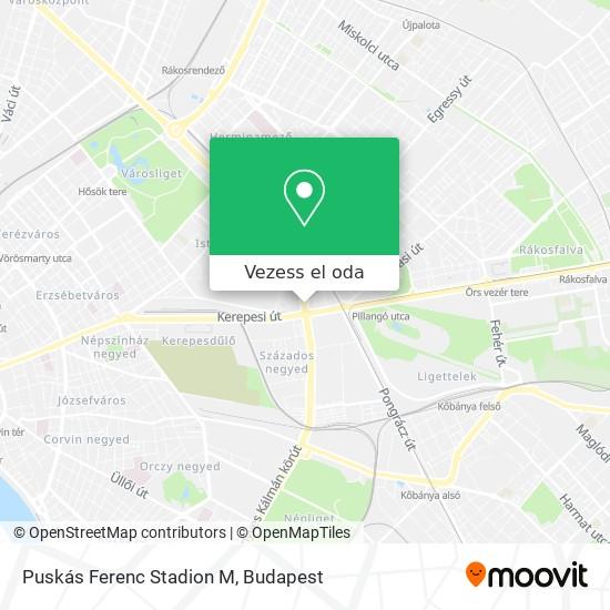 Puskás Ferenc Stadion M térkép