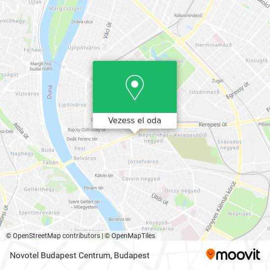 Novotel Budapest Centrum térkép