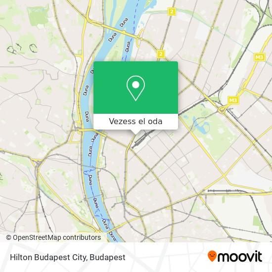 Hilton Budapest City térkép