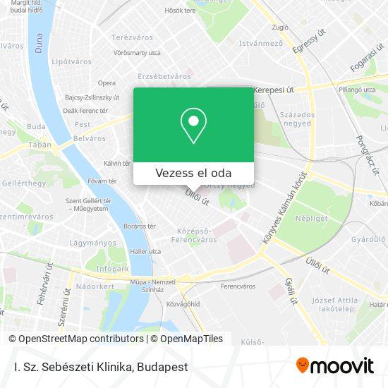Semmelweis Egyetem I. Sz. Sebészeti Klinika térkép