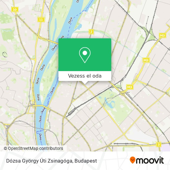Dózsa György Úti Zsinagóga térkép