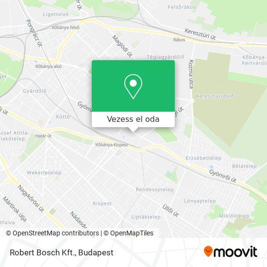 Robert Bosch Kft. térkép