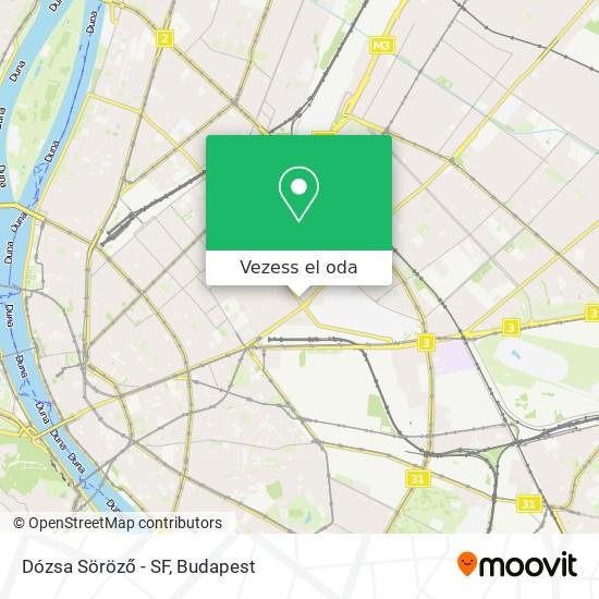 Dózsa Söröző - Sf térkép