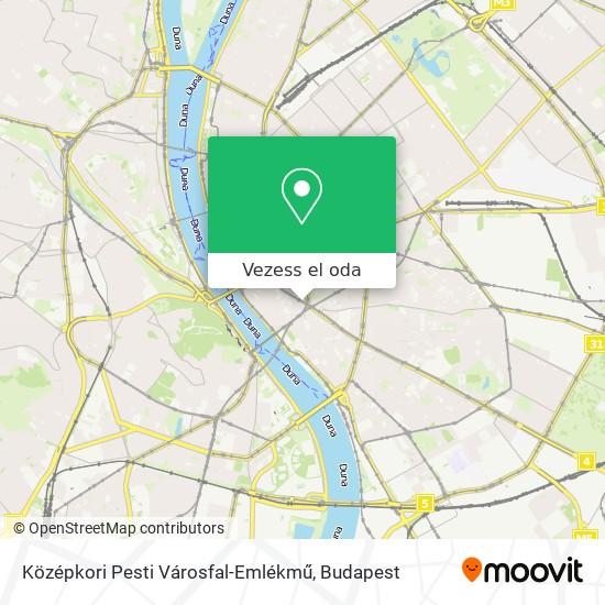Középkori Pesti Városfal-Emlékmű térkép