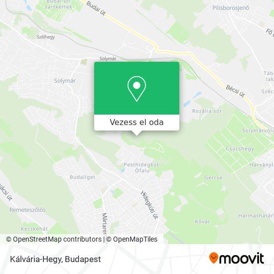 Kálvária-Hegy térkép
