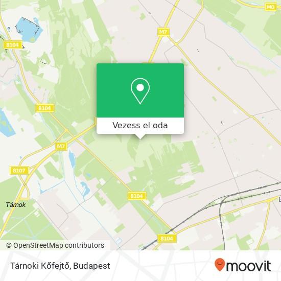 Tárnoki Kőfejtő térkép