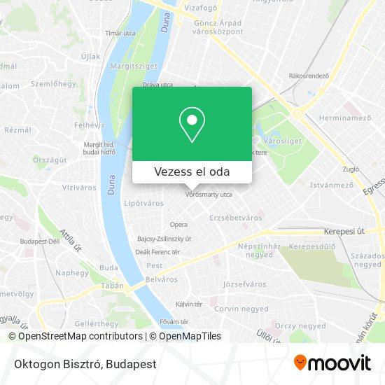 Oktogon Bisztró térkép
