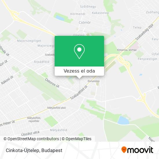 Cinkota-Újtelep térkép