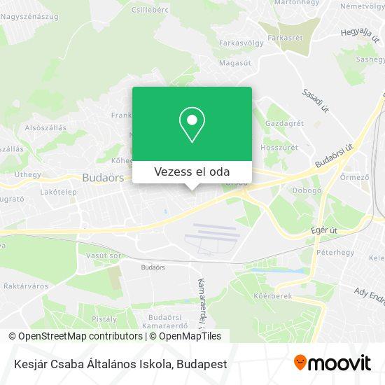 Kesjár Csaba Általános Iskola térkép