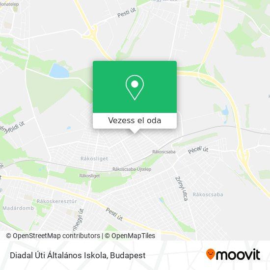 Diadal Úti Általános Iskola térkép