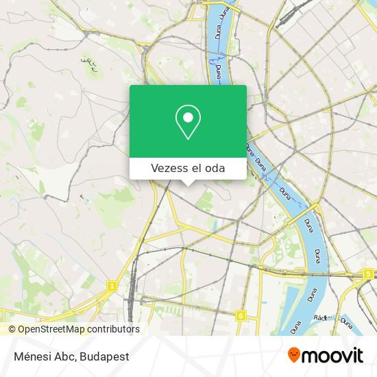 Ménesi Abc térkép