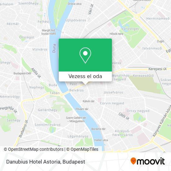 Danubius Hotel Astoria térkép