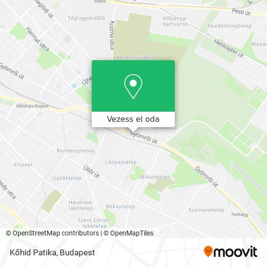 Kőhíd Patika térkép
