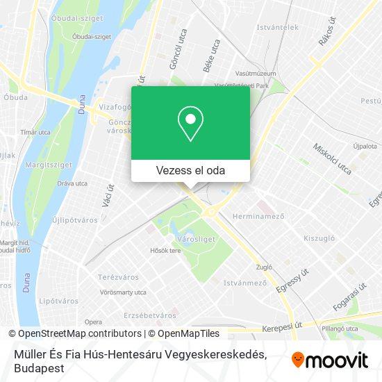 Müller És Fia Hús-Hentesáru Vegyeskereskedés térkép