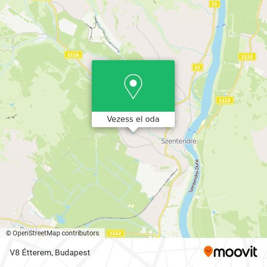 V8 Étterem térkép