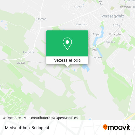 Medveotthon térkép