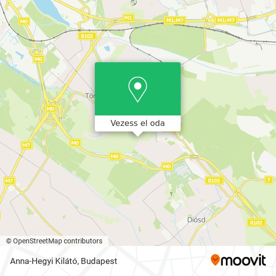 Anna-Hegyi Kilátó térkép