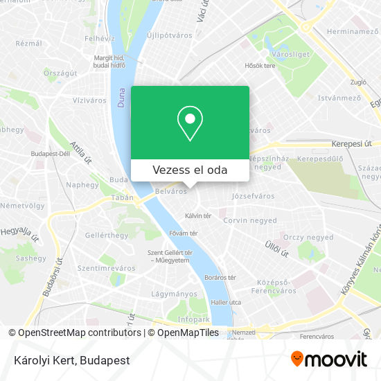 Károlyi Kert térkép