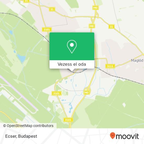 Ecser térkép