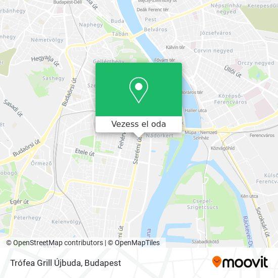 Trófea Grill Újbuda térkép