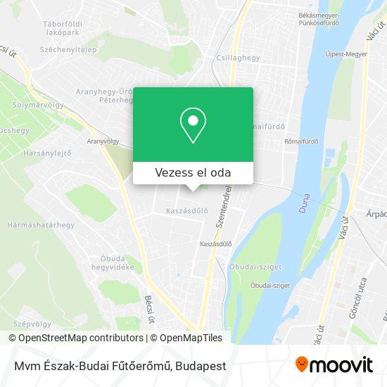 Mvm Észak-Budai Fűtőerőmű térkép