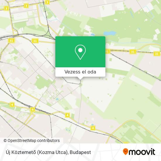 Új Köztemető (Kozma Utca) térkép