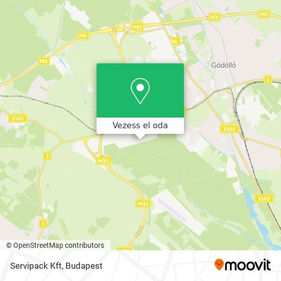 Servipack Kft térkép