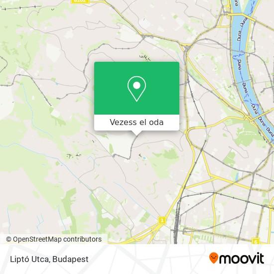 Liptó Utca térkép