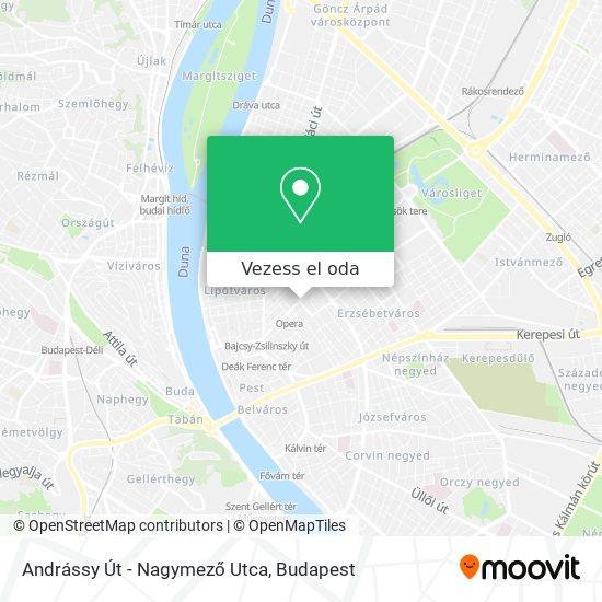 Andrássy Út - Nagymező Utca térkép