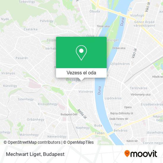 Mechwart Liget térkép